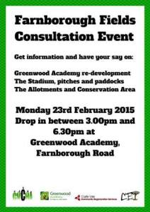 Farnborugh Fields Consultation Event
