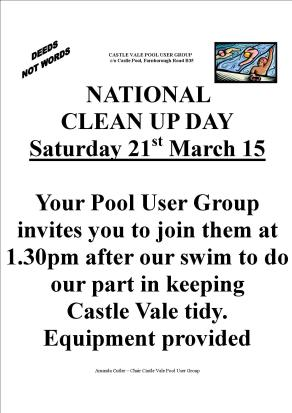Pool User Group Clean Up March 15