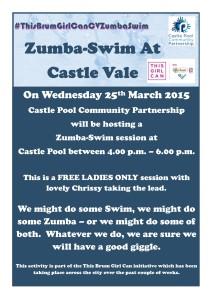 This Brum Girl Can - CV Zumba Swim poster