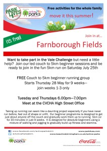 Farnborough Fields - C25K poster Tuesday and Thursday 6pm