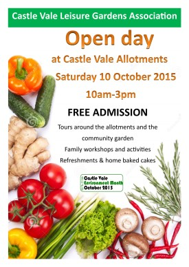 Allotments open day poster